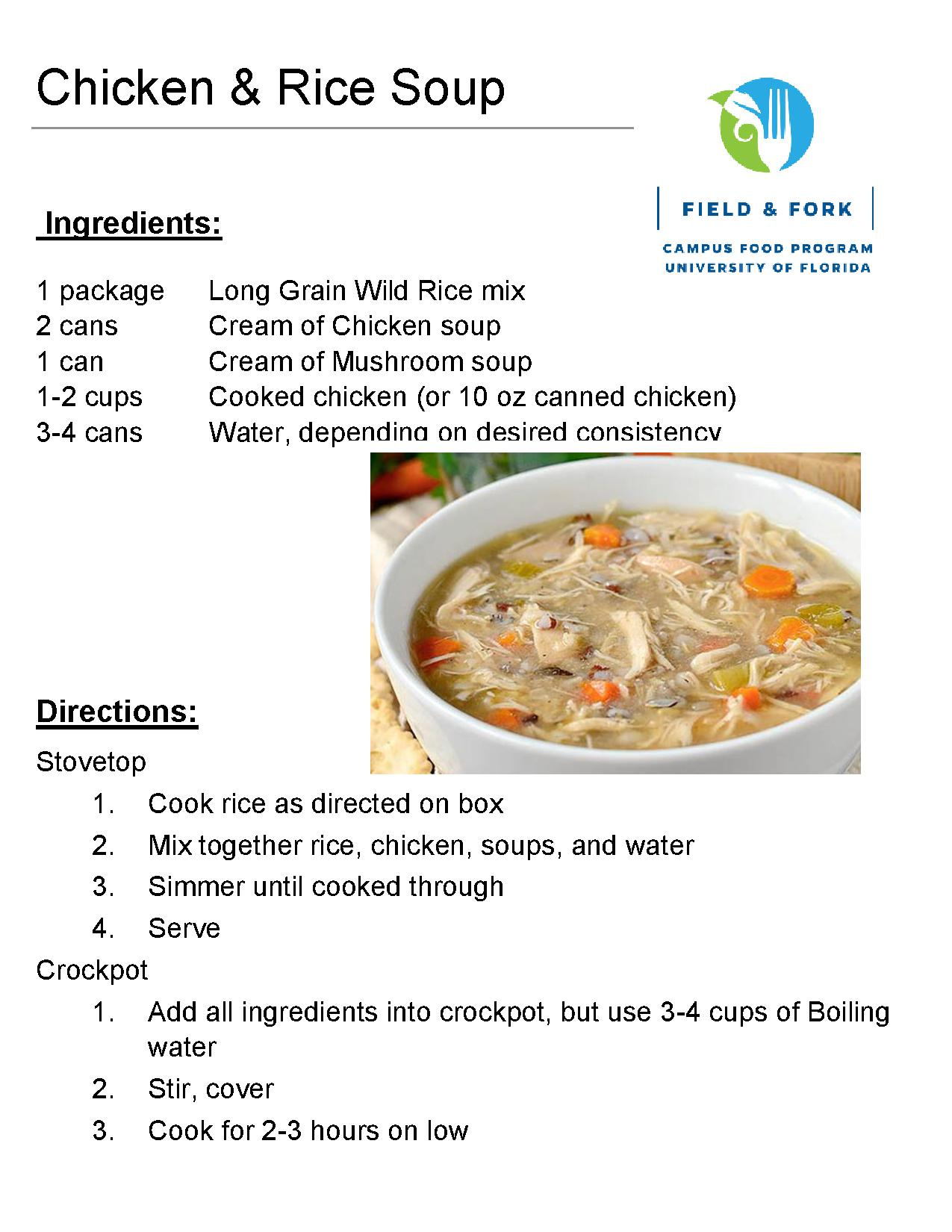 Recipes the pantry download the chicken and rice soup recipe in pdf forumfinder Images