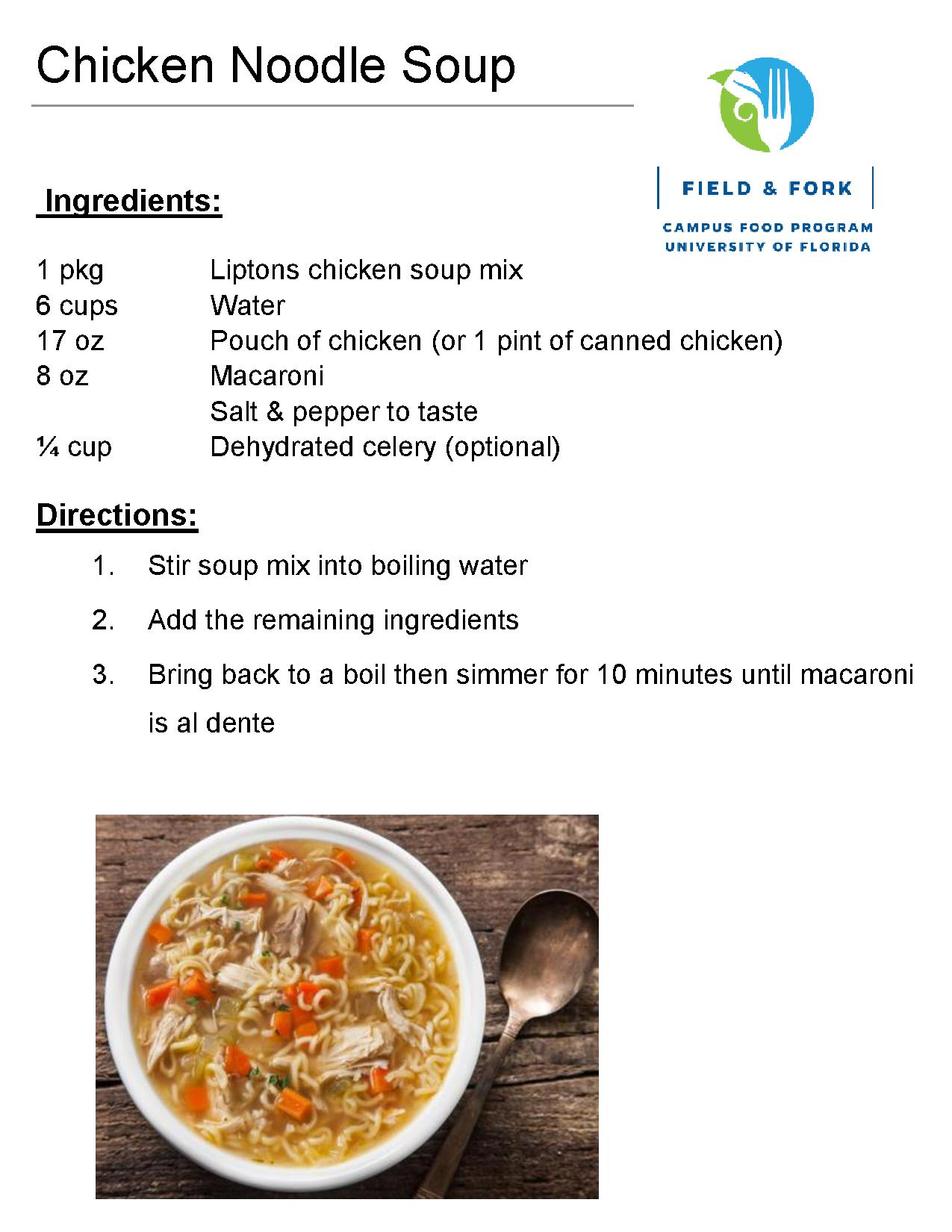 Recipes the pantry download the chicken noodle soup recipe in pdf forumfinder Choice Image