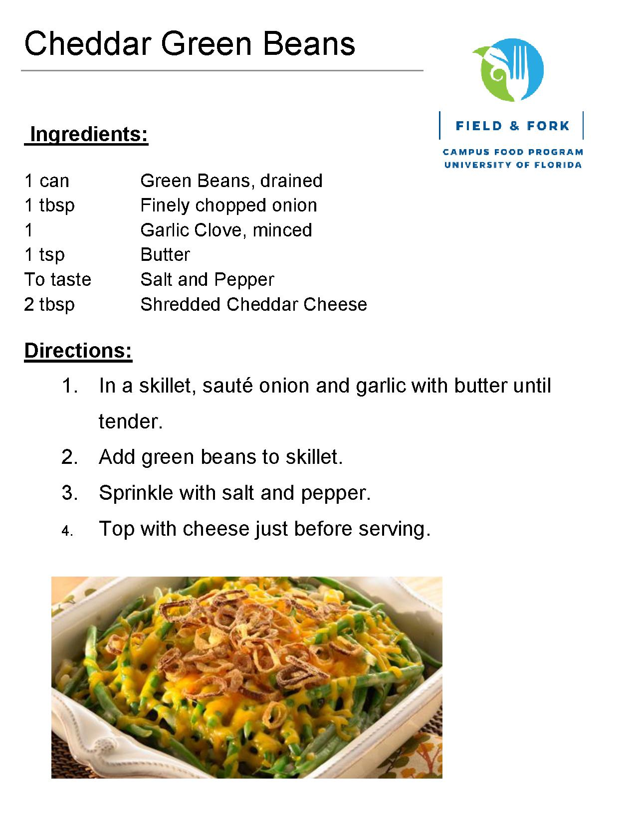 Recipes the pantry download the cheddar green beans recipe in pdf forumfinder Image collections