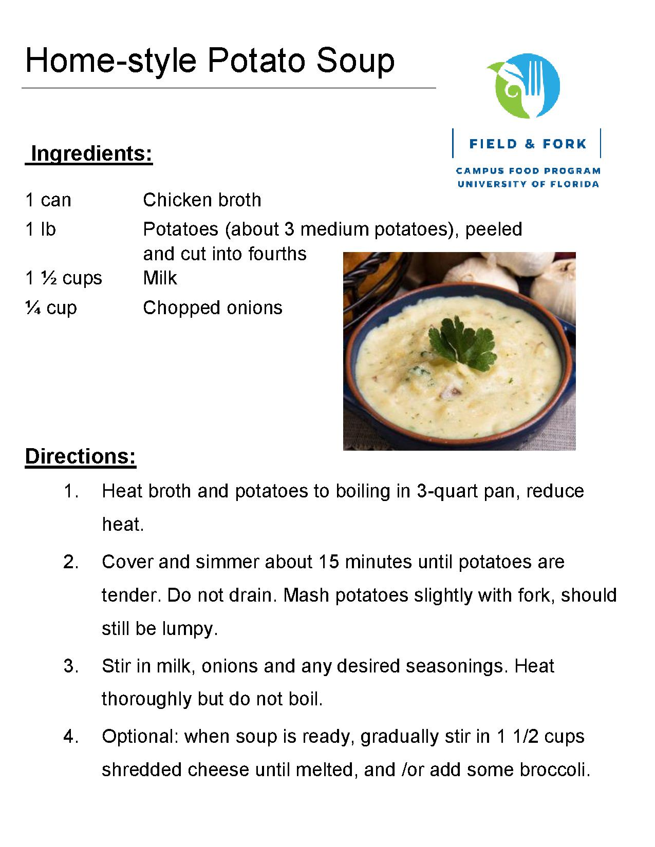 Recipes the pantry download the home style potato soup recipe in pdf forumfinder Gallery
